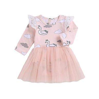 6415ce235f11 Amazon.com  Toraway- Baby Girls Tulle Princess Dress Newborn Outfits ...