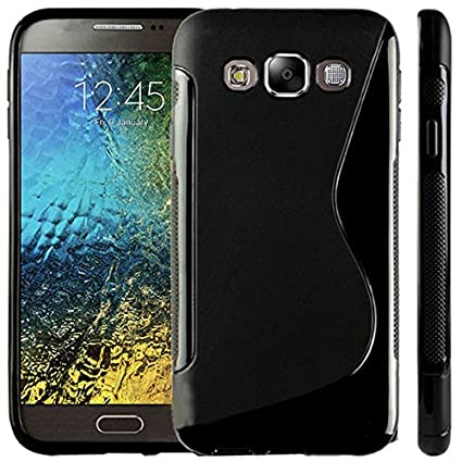 more photos bd028 f8786 Samsung Galaxy E5 Back Cover + Tempered Glass For: Amazon.in ...