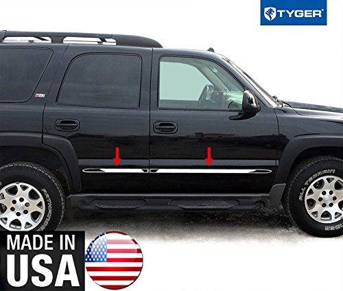 Made in USA! Works with 00-06 Chevy Tahoe 4 Door with Fender Flare Body Side Molding Trim 1.5