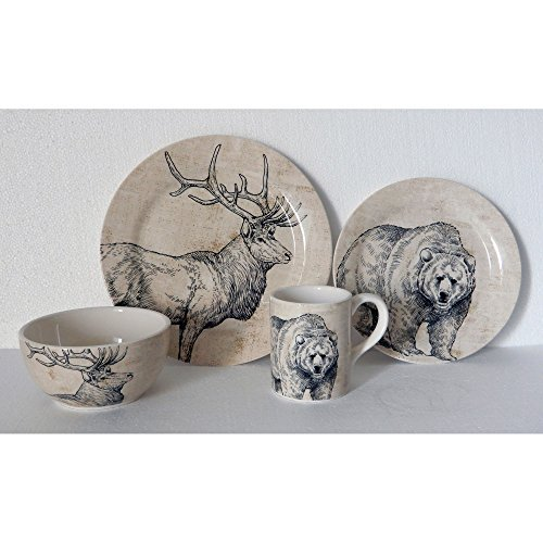 16-Piece Animal Dinnerware Set
