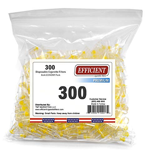 Efficient 4 Hole Disposable Premium Cigarette Filters - Bulk Economy Pack (300)