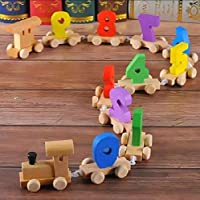 Supreme Quality Shopee Beautiful Wooden Digital Colourful Train, Educational Model Vehicle Toys , Vehicle Pattern 0 to 9 Number, Educational Learning Toys for Kids,Boys,Girls,Children