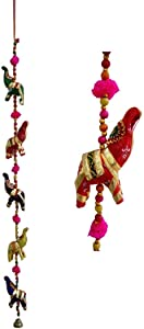 Rich India Indian Traditional Five Elephant Hanging Layer Door Hanging, Wall Hanging, Decorative Hanging Gift