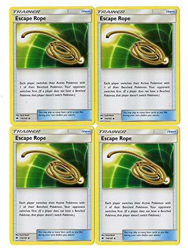 Escape Rope 114/147 - Sun Moon Burning Shadows - Trainer Card Set - x4 Card Lot (Playset) -