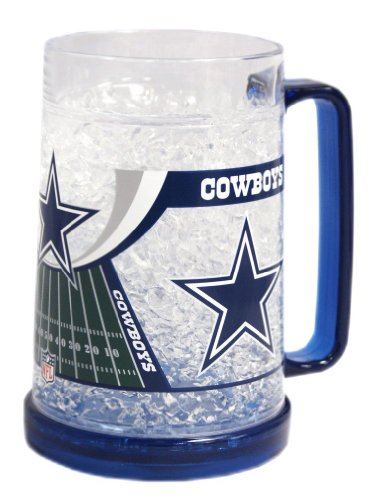 Crystal Dallas Cowboys Football (Dallas Cowboys NFL Crystal Freezer Mug)