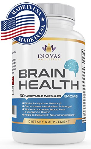 Dr Proven Natural Extra Strength Nootropic Brain Booster Support Supplement Stack Optimizes Your Focus, Energy, Memory, Clarity - Alleviate Stress. FDA, GMP Certified. 100% Guaranteed. 60 Capsules