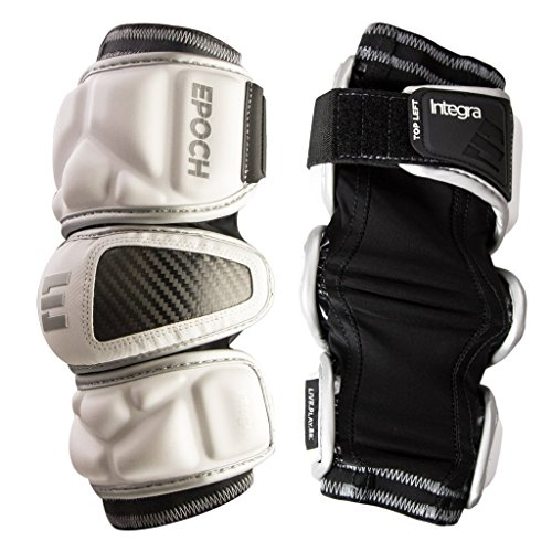 Epoch Lacrosse Integra Arm Pads for Attackmen and Middie (Medium) (White)