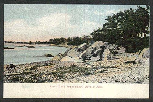 - Rocks Dane Street Beach Beverly MA undivided back postcard 1900s