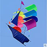 Sailing Kites With Handle 3d Stereo Sailboat Kite Performance New Modern Three-dimensional Flying Kite, Durable, Easy To Fly