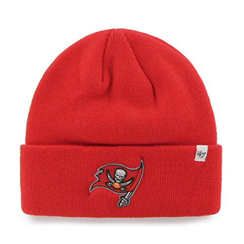 Tampa Bay Buccaneers Red Cuff Beanie Hat - NFL Cuffed Winter Knit Toque Cap ()