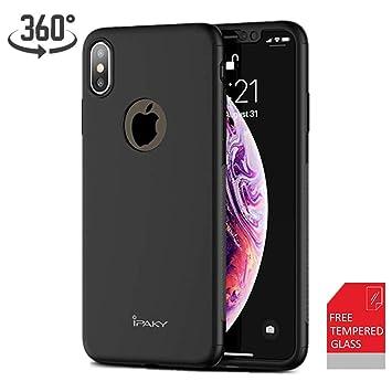 Funda iPhone X Carcasa iPhone 10 Frontal y Trasera Ultra-Delgada + Regalo Gratis Película Protectora, ipaky 360 °Protección Completa Case Cover ...