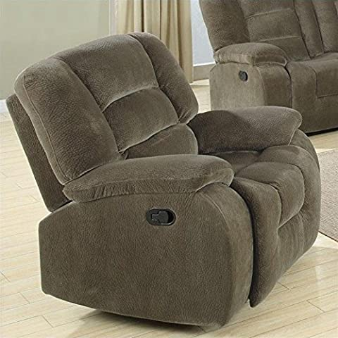Coaster Home Furnishings Casual Recliner, Brown Siege - Home Furnishings