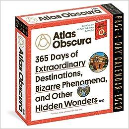 Atlas Obscura Page A Day Calendar 2020 Atlas Obscura Workman Calendars 9781523507054 Amazon Com Books