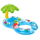 Automarketbiz Inflatable Swimming Ring Baby Infant Pool Float Toys with Canopy Sea Mattress Beach Party Summer Floating Boat Toy