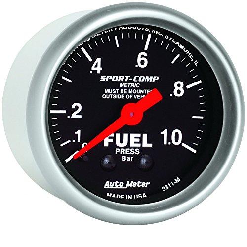 Auto Meter 3311-M Sport-Comp Mechanical Fuel Pressure Gauge