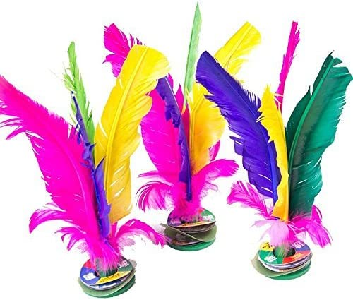 2PCS China Jianzi Colorful Fancy Feather Shuttlecock for Fitness Entertainm~er