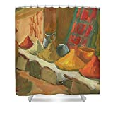 Pixels Shower Curtain (74'' x 71'') ''Marrakesh Market''