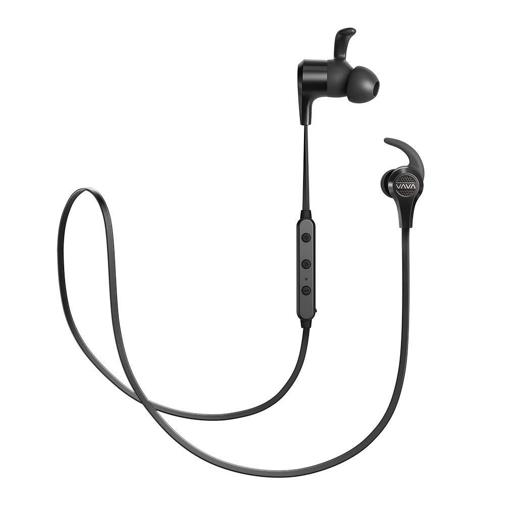 VAVA MOOV 25 Bluetooth Headphones, Magnetic Wireless Headphones Sports Bluetooth Earphones, CVC 6.0 Noise Cancelling Microphone Renewed