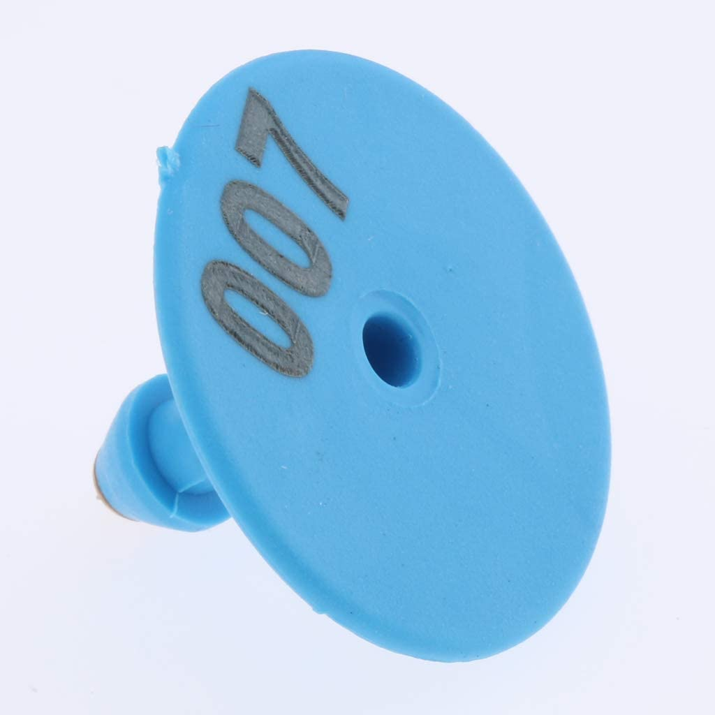 Red Almencla 100PCS Numbered Livestock Ear Tag For Pig Cow Cattle Goat Sheep safe to animals; brass ear stud never rust