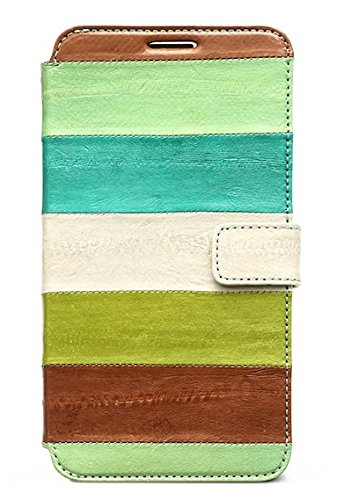 Zenus Natural EEL Diary Case for Samsung Galaxy Note 3 N9000 - Green