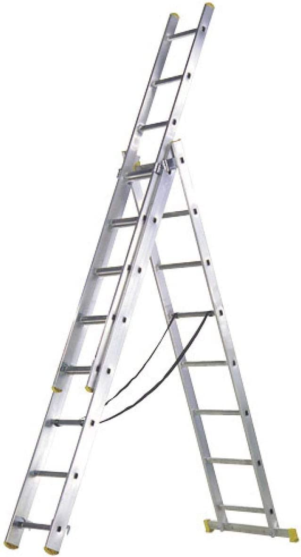 WOLFPACK LINEA PROFESIONAL 23020009 Escalera Aluminio 3 Tramos 7 Peldaños