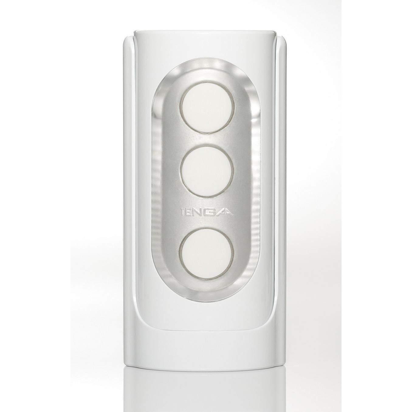 Tenga Flip Hole White with Free Passion Lube 8oz Bottle by TENGA