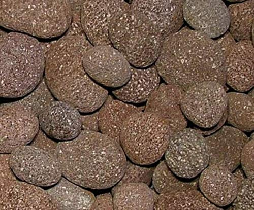 2 Pounds Decorative Stones, Large Red Lava Beach Pebbles, 32 oz bag, Indoor or Outdoor Decorative Stones for Craft Projects, Vase Fillers, Succulents, Cactus Pots, Terrarium Plants, Fire Pits