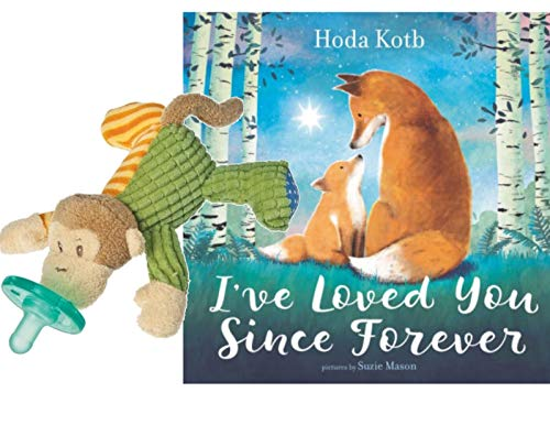 Hug the Belly Mary Meyer Wubbanub Mango Monkey Pacifier with I've Loved You Since Forever Book Baby Gift Bundle
