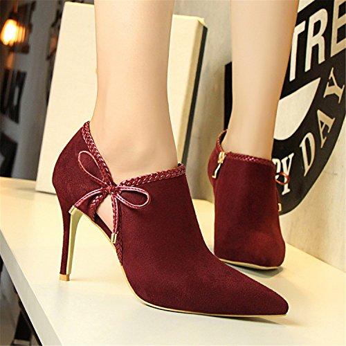 Lady Aukkoja Mujer Zapatos Vaaleanpunainen Kantapään Solmun Punainen Kengät Pohja Häät Naiset Väri Korkea Seksikäs Khaki Parven Perhonen Patrc Ohut Kallistuneena R0gaZw