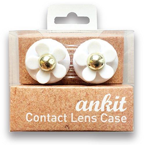 Ankit Contactez Lens Case - White Daisy