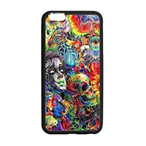 Customize PC Gel Skin Case Cover For Apple Iphone 6 4.7 Inch Trippy