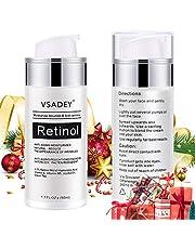 VSADEY Retinol Serum with Hyaluronic Acid Retinol Cream for Face Neck Powerful Anti Aging Lighten Fine Lines Wrinkles Acne Scars Vitamin E Serum Moisturizing Serum Day Night Care Serum Fluid 30ml