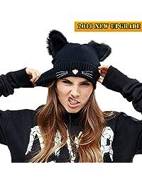 NW 1776 Women's Hat Cat Ear Crochet Braided Knit Caps Warm Snowboarding Winter