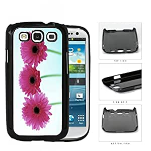 Pink Gerbera Daisy Flowers Hard Plastic Snap On Cell Phone Case Samsung Galaxy S3 SIII I9300