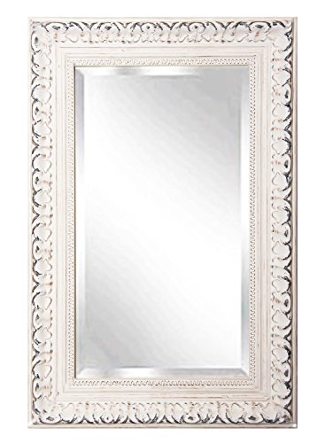American Made Rayne French Victorian White Beveled Wall Mirror, 23.5 x 35.5 (Mirror Victorian Wood)