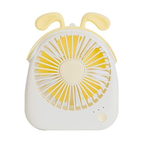 Ventilador Mesa, Ventilador Pequeño Carga USB Silencio Sin Ruido ...