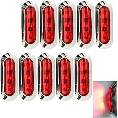 Hehemm 4 Led Seitenmarkierung Licht Lampe Clearance Trailer Truck Lkw Kleine Lichter Edge Lights Auto Styling 10 30v Packung Mit 10 Auto