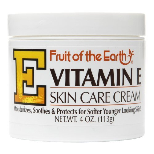 Fruit of the Earth Vitamin E Skin Care Cream 4 oz per Jar- Pack of 8