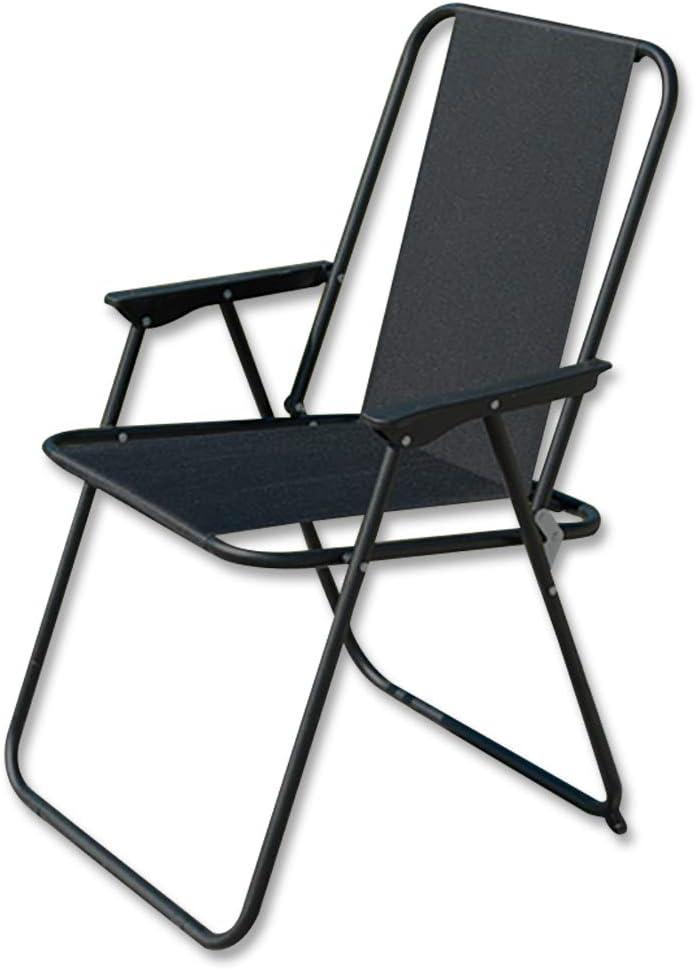 Jawoll XL Garten-Klappstuhl /»Siesta/« schwarz Campingstuhl Relaxstuhl Faltstuhl Premium Oxford