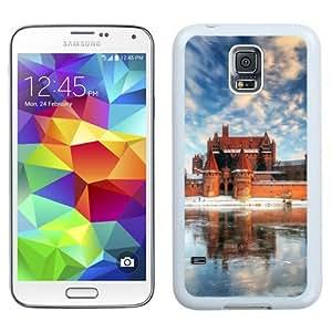 NEW Unique Custom Designed Samsung Galaxy S5 I9600 G900a G900v G900p G900t G900w Phone Case With Malbork Castle Poland Frozen Lake_White Phone Case