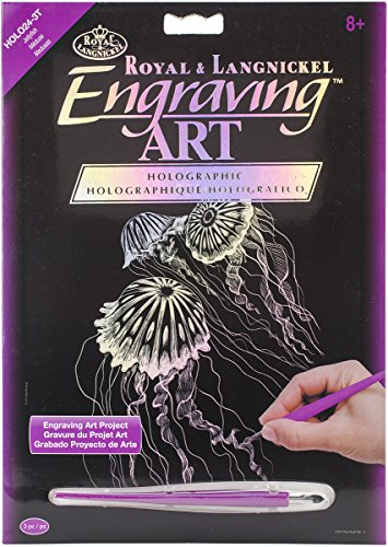 - ROYAL BRUSH HOLOFL-24 Holographic Foil Engraving Art Kit, 8-Inch by 10-Inch, Jellyfish