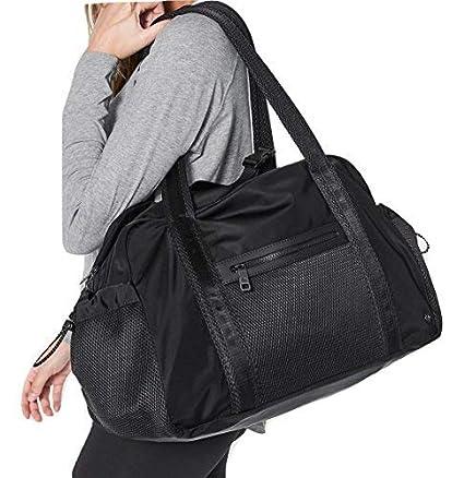 9c8ce3a1720 Amazon.com  Lululemon Everywhere Duffel Bag (Black)  Sports   Outdoors