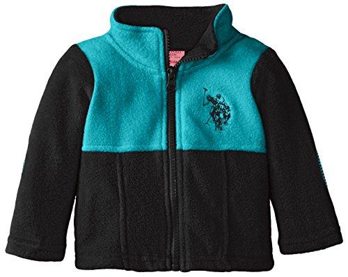 us-polo-assn-baby-girls-polar-fleece-mock-neck-jacket-black-teal-3-6-months
