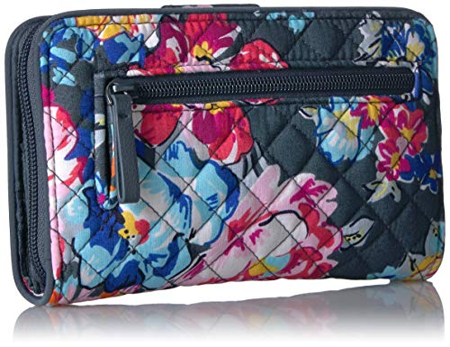 Vera Bradley Women's Signature Cotton Turnlock Wallet with RFID Protection 2