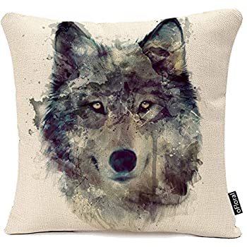 Amazon.com: Fundas de Almohada, diseño de lobo Decorativo 18 ...