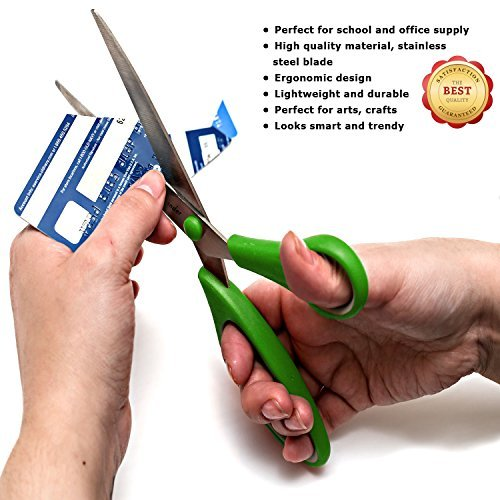 Mysonder Scissors 4 Set - Shears for Office, School, Kitchen, Sewing, Art and Craft Activities - Features Durable Design, Comfort Grip and Razor Sharp Blades