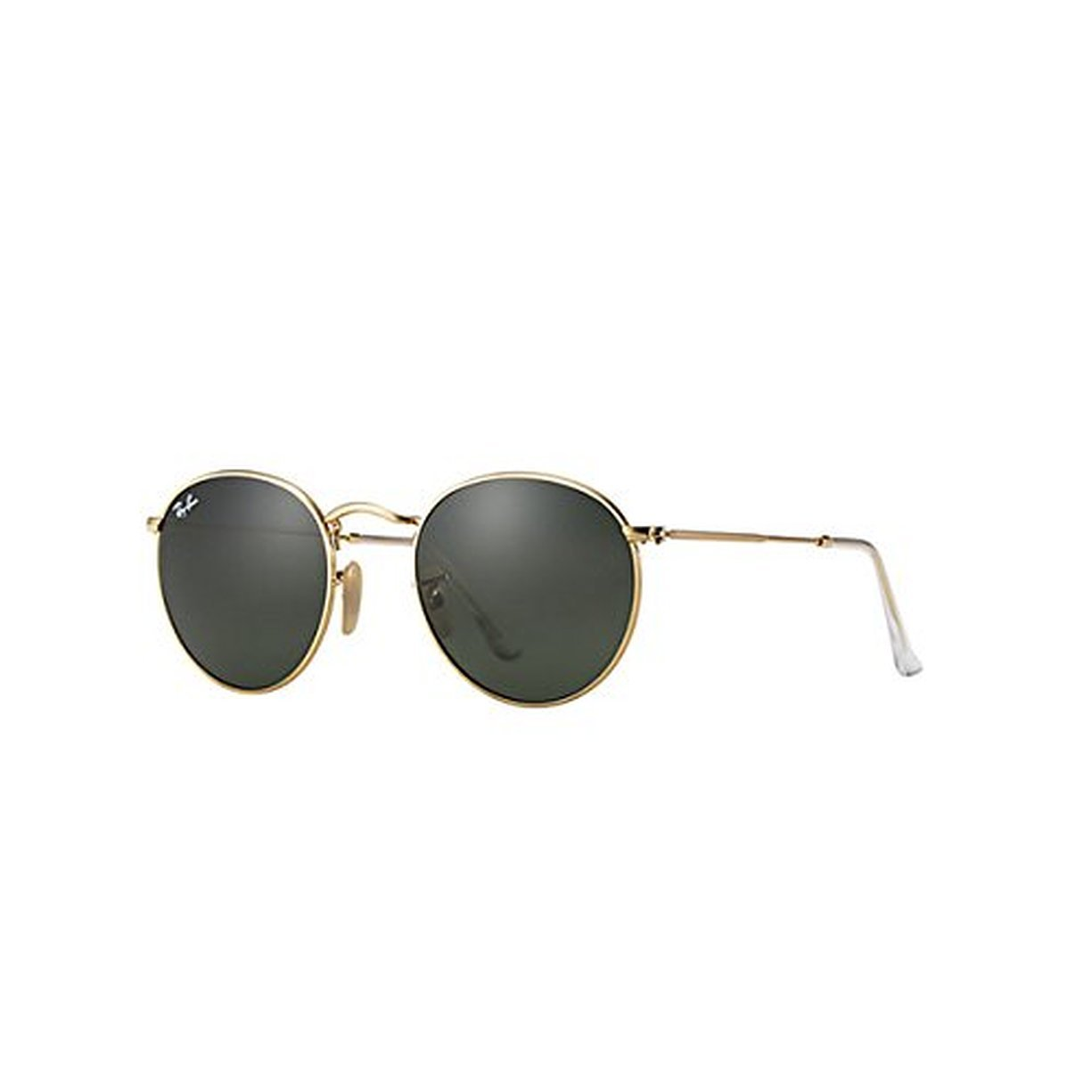 df6ca5f7de Amazon.com  Ray-Ban Round Metal RB3447 Sunglasses Arista Crystal Green 47mm    Cleaning Kit Bundle  Clothing