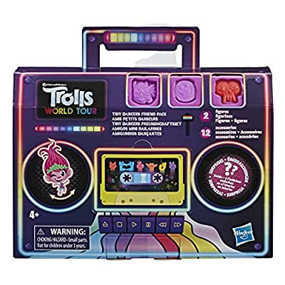 DREAMWORKS TROLLS Tiny Dancers Friend Pack with 2 Tiny Dancers Figures, 2 Bracelets, and 10 Charms, Toy Inspired by The Movie Trolls World Tour: Toys & Games