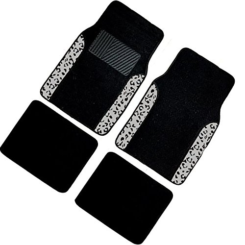 white and black car floor mats - 2