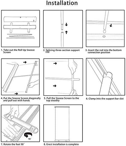 Negozi Protezione Contro Gli Sputi Schermo Igienico 80 * 200 Cm Banner Trasparente per Sollevare Adatto per Ufficio Mlxy Schermo per Starnuto Trasparente Ristorante